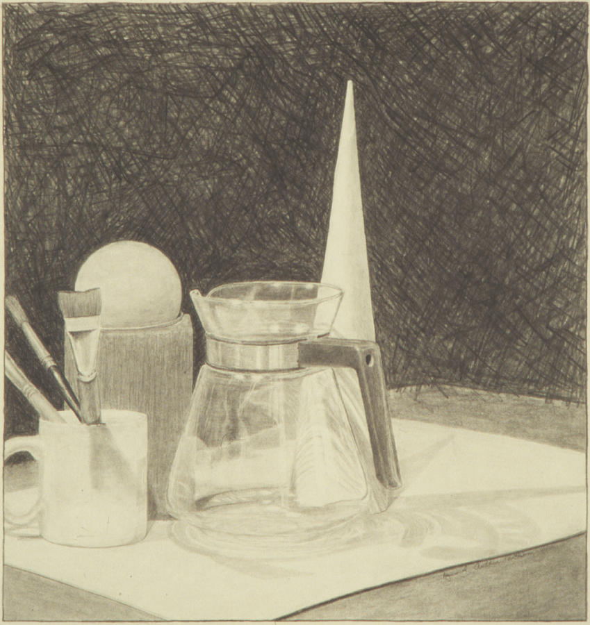 Still Life With Coffee Carafe Drawing