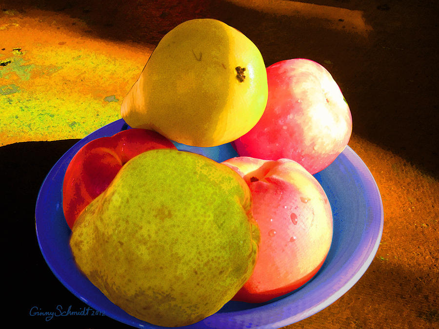 Fruit Photograph - Still Life With Fruit by Ginny Schmidt