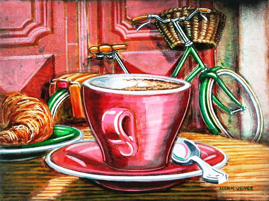 Still Life Painting - Still Life With Green Dutch Bike by Mark Jones