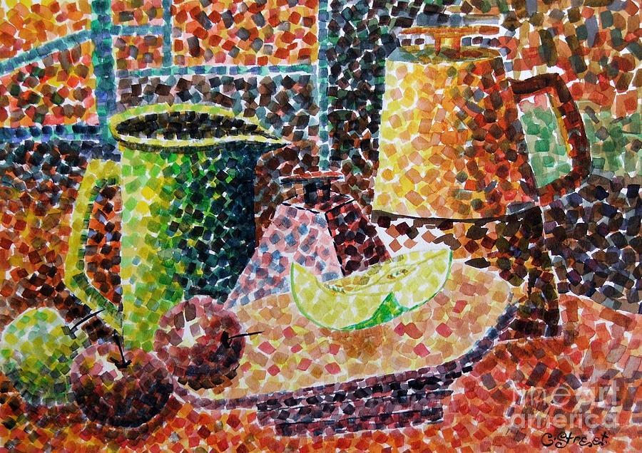 Still-life Painting - Still Life With Green Jug Painting by Caroline Street