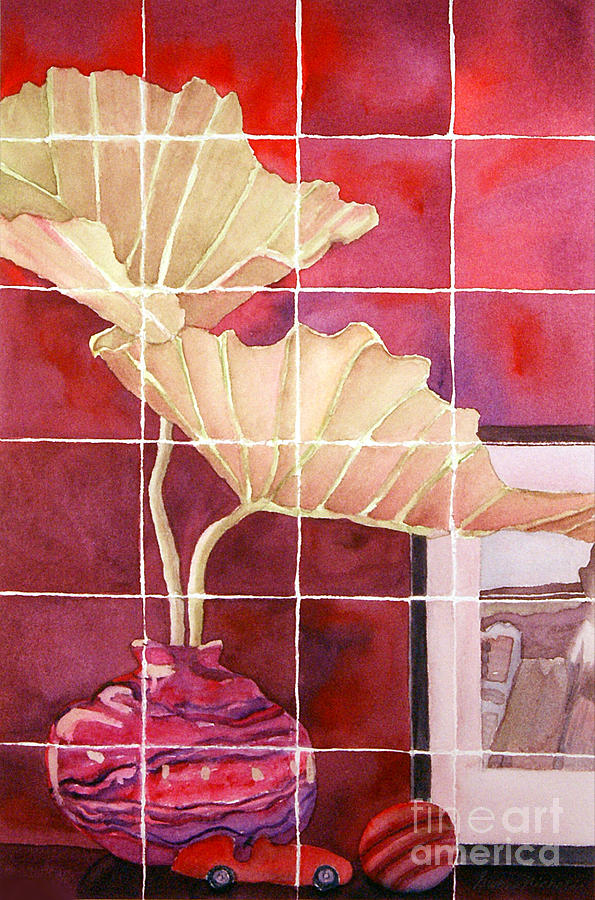 Watercolor Painting - Still Life With Grid by Gwen Nichols