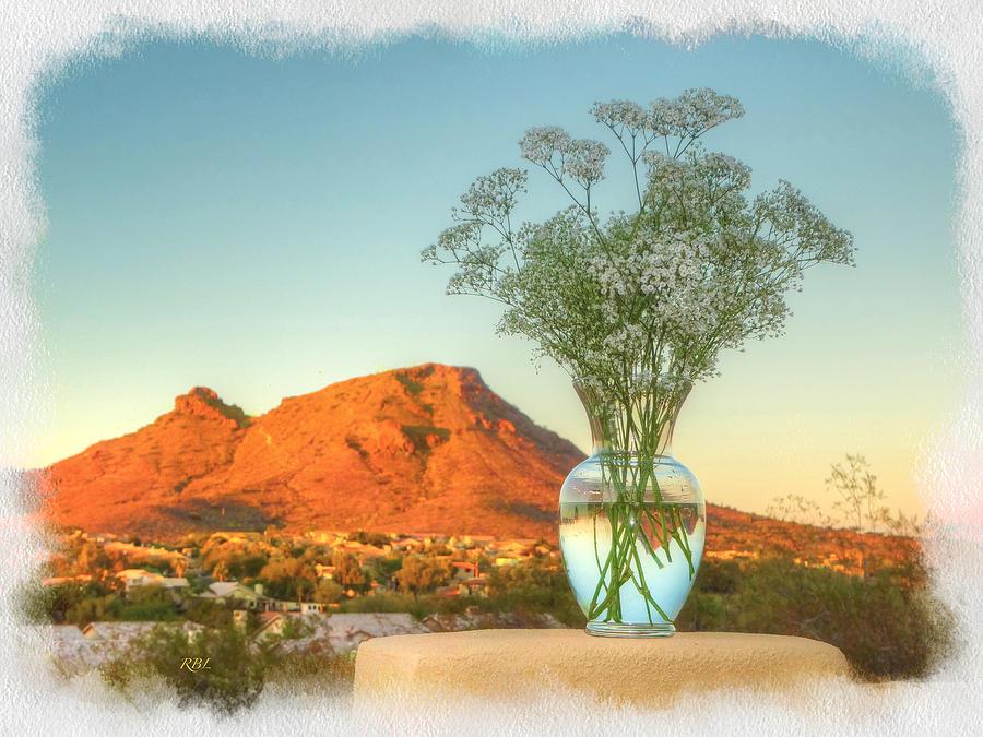 Still Life Digital Art - Still Life With Landscape by Rick Lloyd