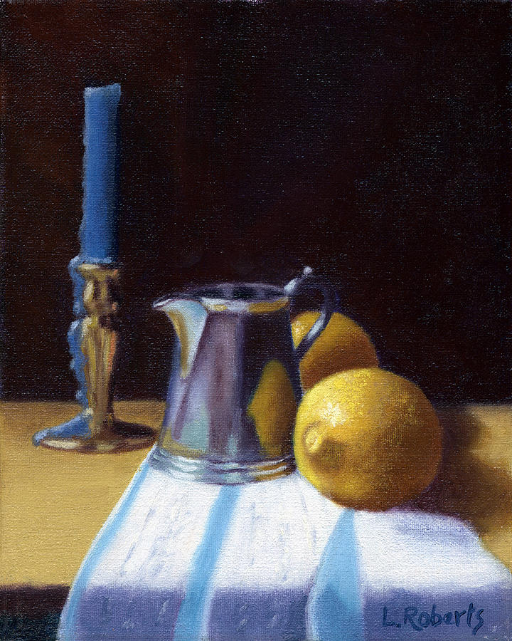 Lemon Painting - Still Life with Lemons by Laura Roberts