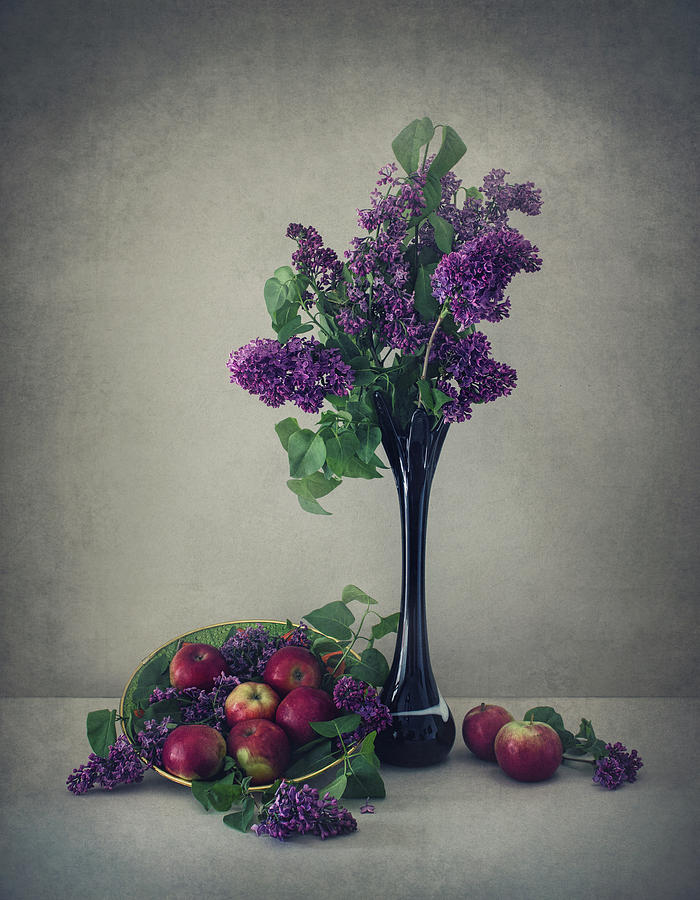 Bouquet Photograph - Still Life With Lilac by Dimitar Lazarov -