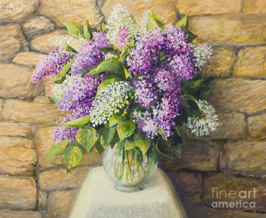 Aroma Painting - Still Life With Lilacs by Kiril Stanchev