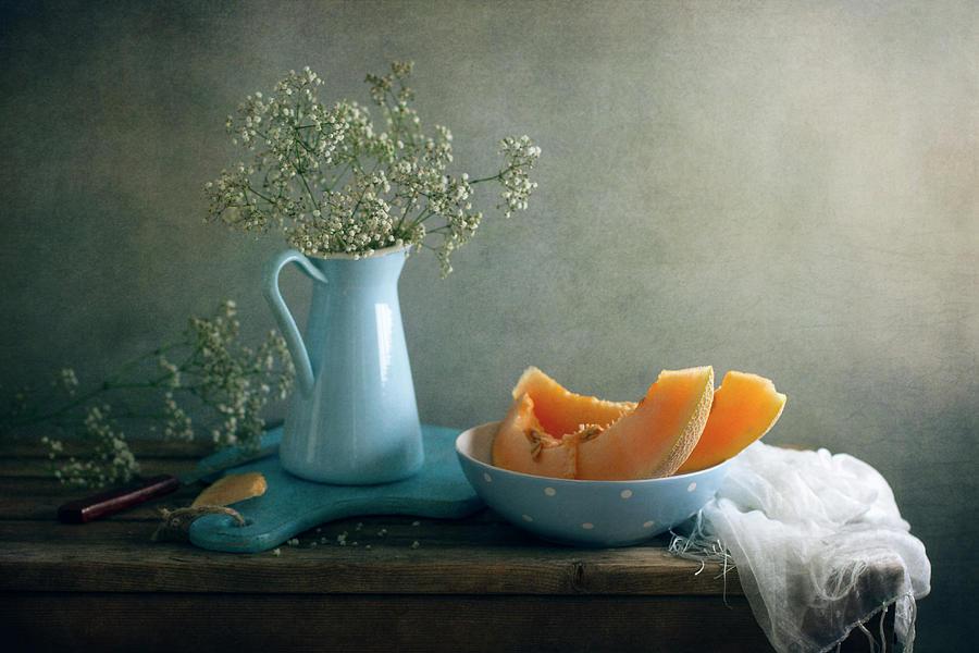 Still Life With Melon Photograph by Copyright Anna Nemoy(xaomena)