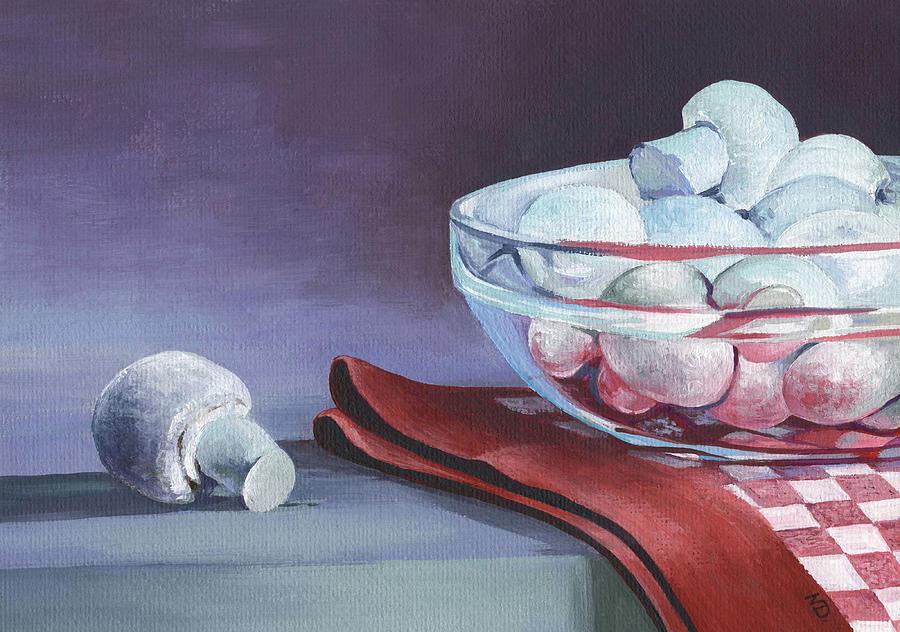 Mushrooms Painting - Still Life With Mushrooms by Natasha Denger