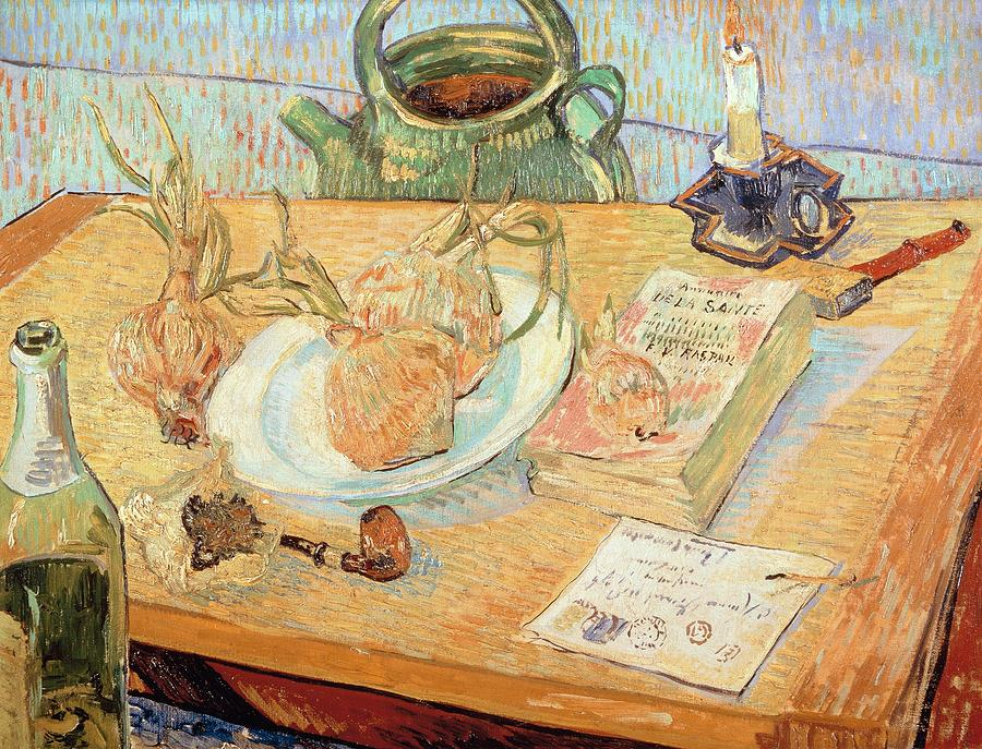 Painting Painting - Still Life With Onions by Vincent van Gogh