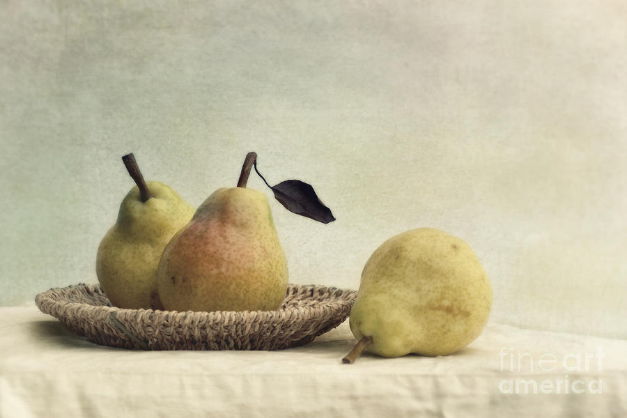 Pear Photograph - Still Life With Pears by Priska Wettstein