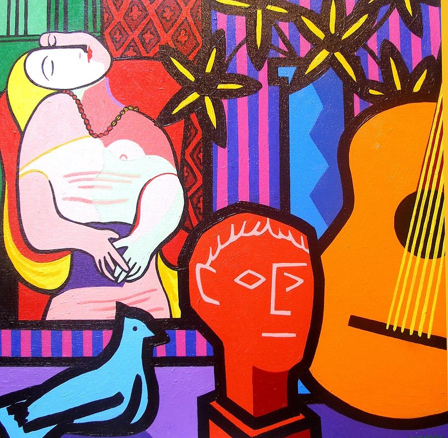 Picasso Painting - Still Life With Picassos Dream by John  Nolan