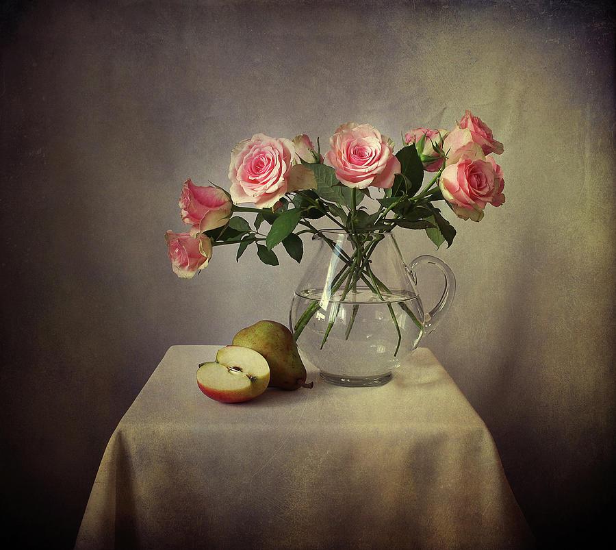 Still Life With Roses Photograph by Ellen Van Deelen