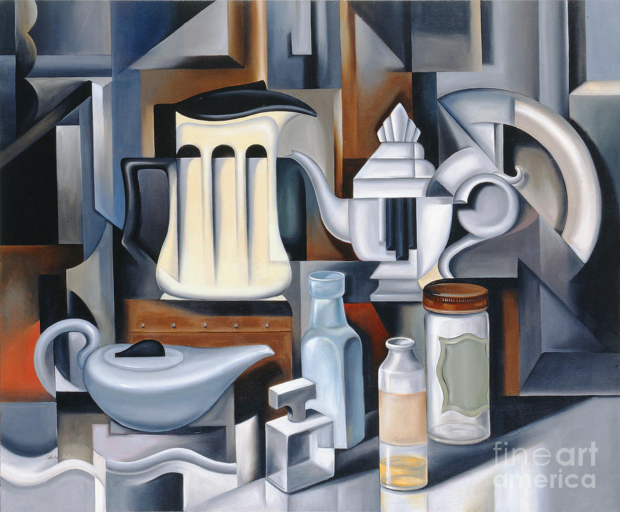 Still Painting - Still Life With Teapots by Catherine Abel