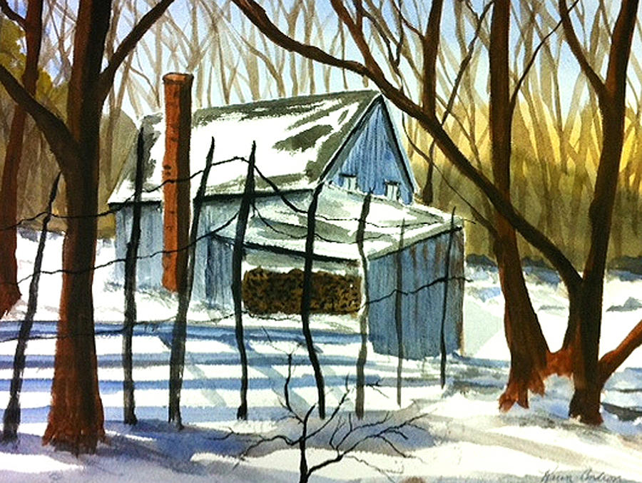 Still On A Winters Day Painting by Karen  Condron