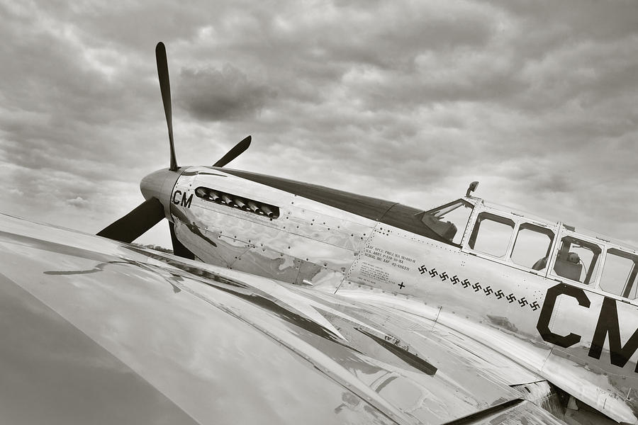 Ww Ii Airplane Photograph - Still Ready To Answer The Call by M K  Miller