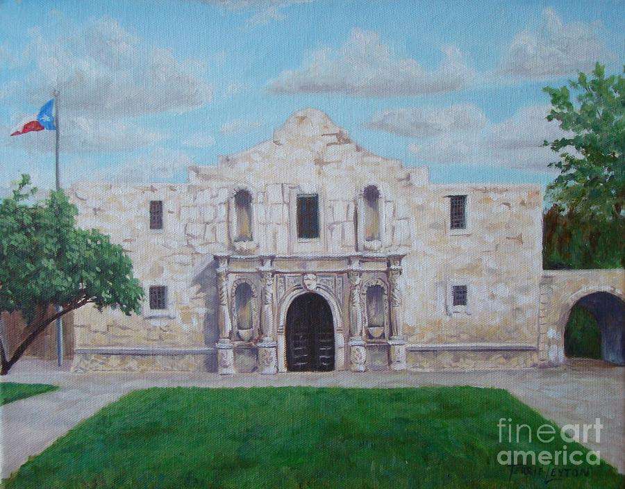 The Alamo Painting - Still Standing Strong - The Alamo by Terrie Leyton