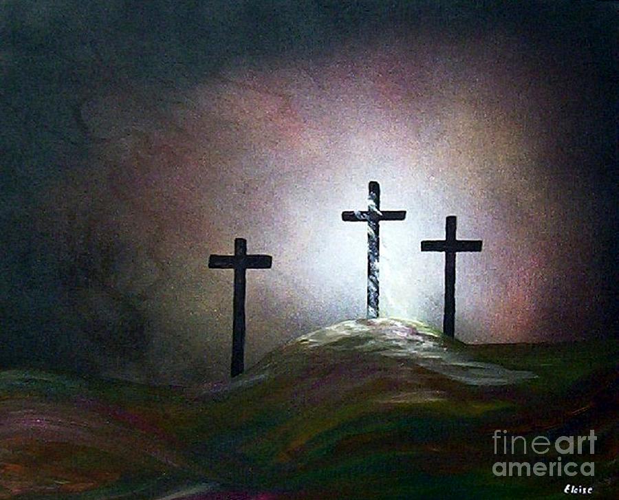 Jesus Painting - Still The Light by Eloise Schneider