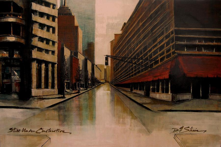 Painting - Still Under Construction Fourteen by Diane Strain