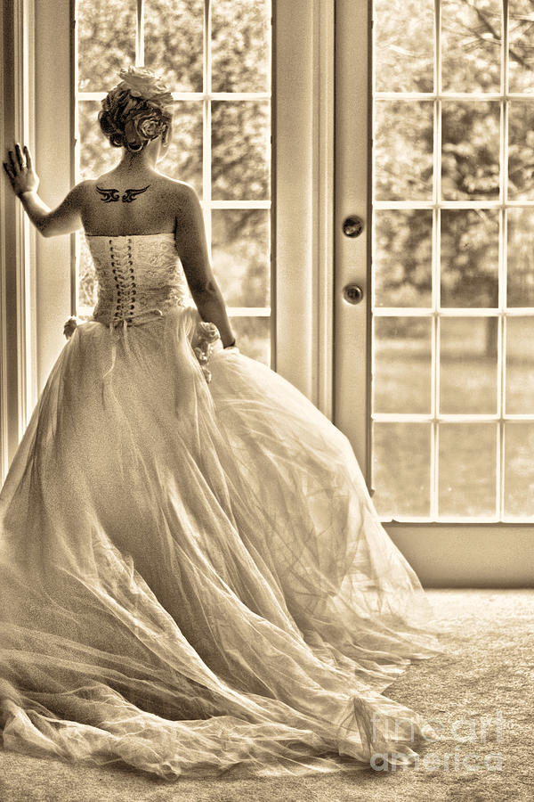 Bride Photograph - Still Waiting by Jill Hyland