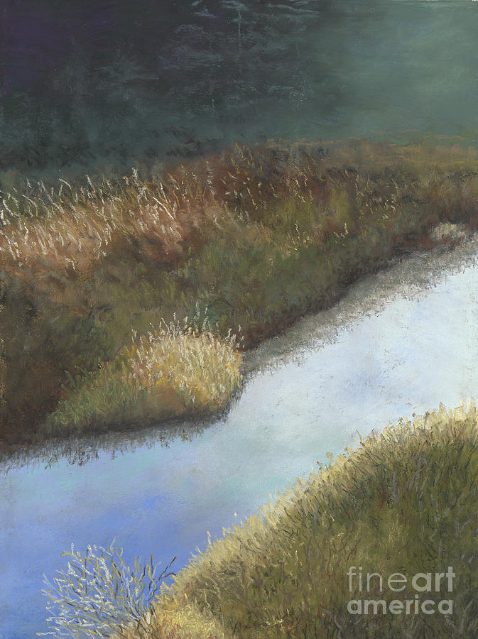 Creek Painting - Still Water by Ginny Neece
