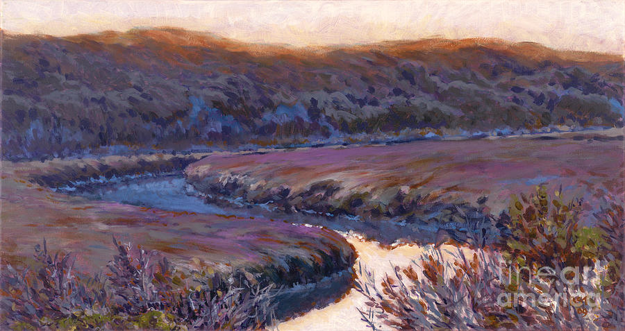 Landscape Painting - Stillness At Twilight by Betsee  Talavera
