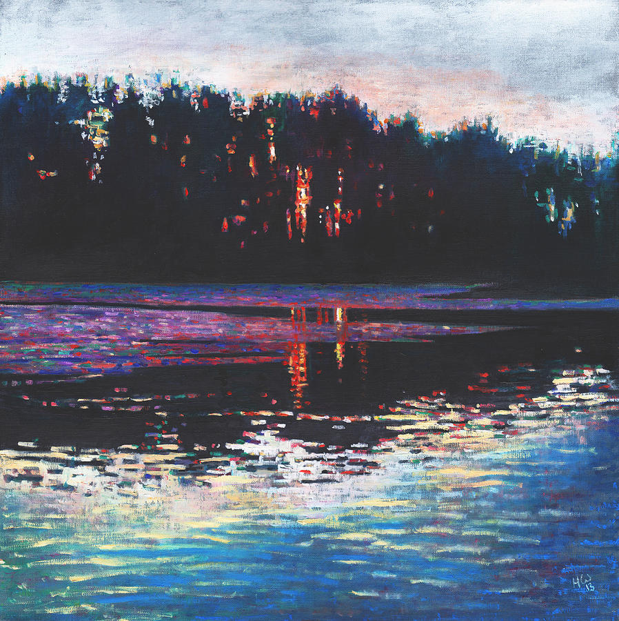 Sunset Painting - Stillness In The Midst by Helen White
