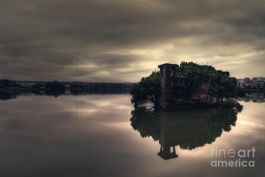 Shipwreck Photograph - Stillness Speaks by Andrew Paranavitana