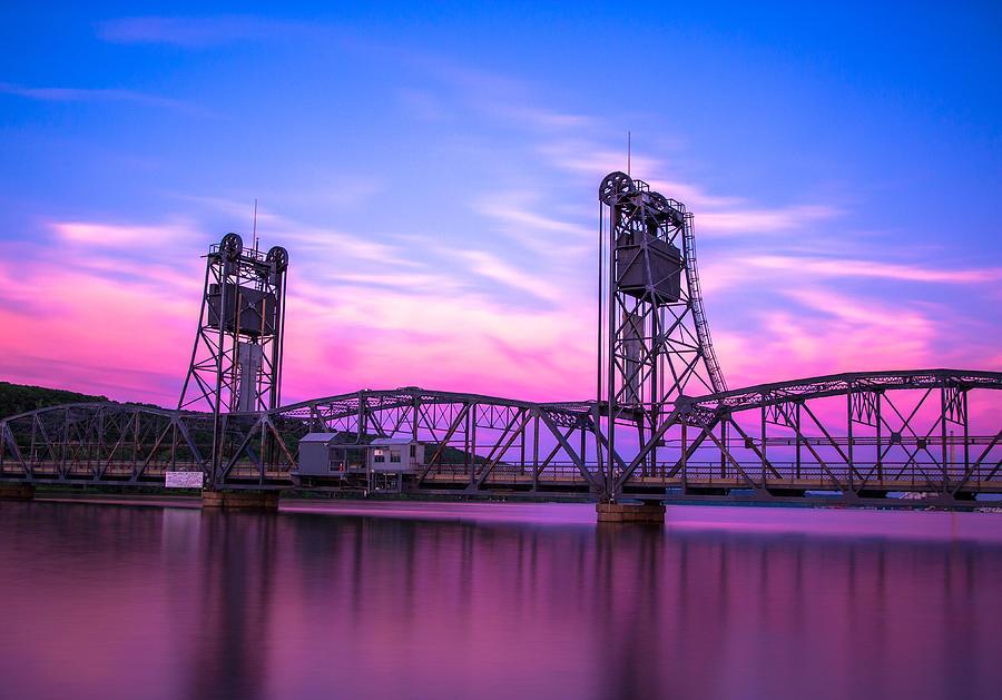 Landscape Photograph - Stillwater Lift Bridge by Adam Mateo Fierro