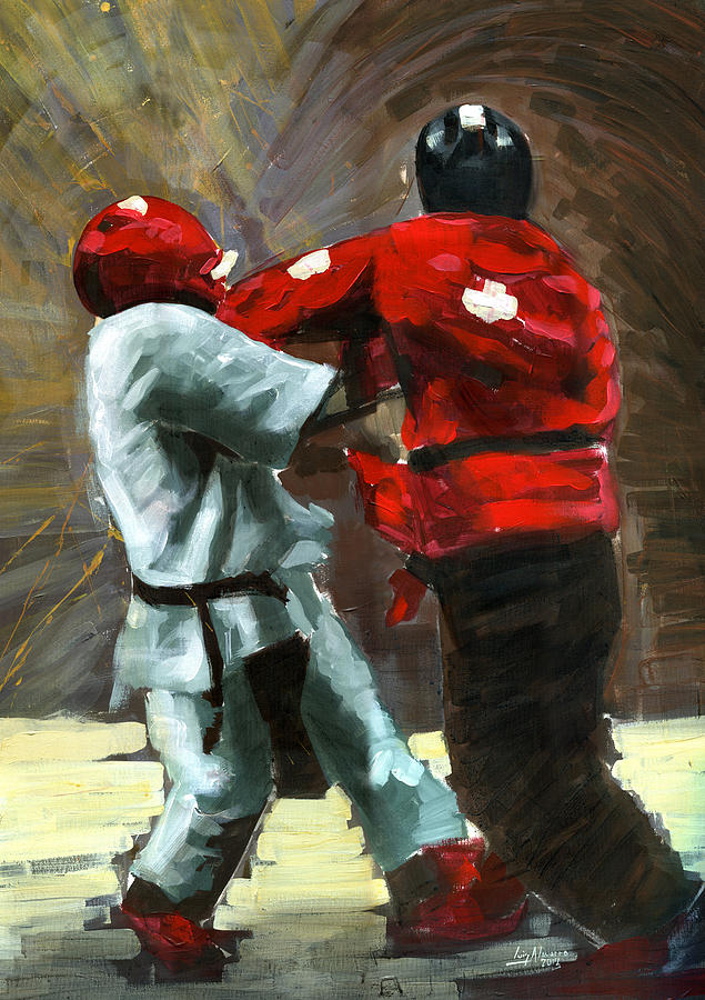 Karate Painting - Sting Like A Hornet by Luis  Navarro
