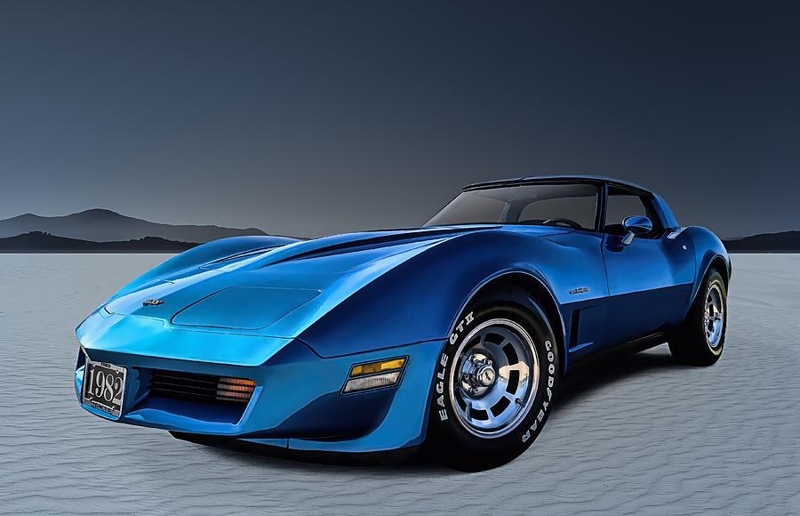 Corvette Digital Art - Stingray Blues by Douglas Pittman