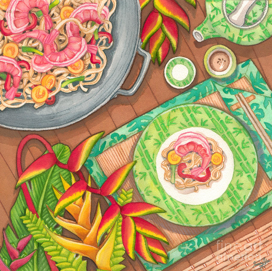 Dining Painting - Stir Fry  by Tammy Yee