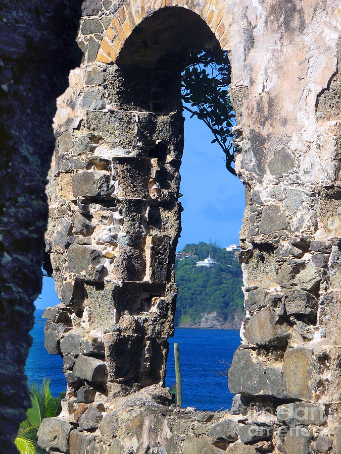 St. Lucia Photograph - Stlucia - Ruins by Gregory Dyer