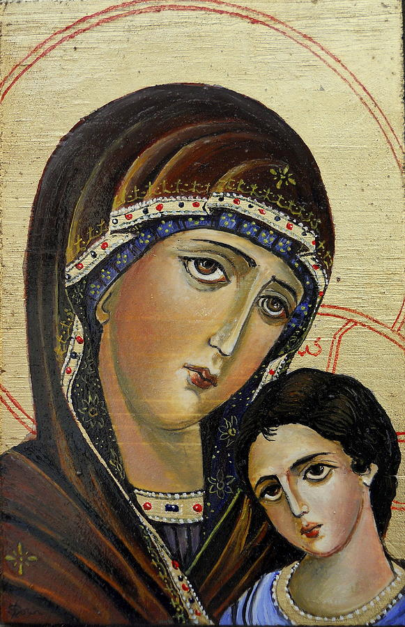 St.mary With  Jessus Painting