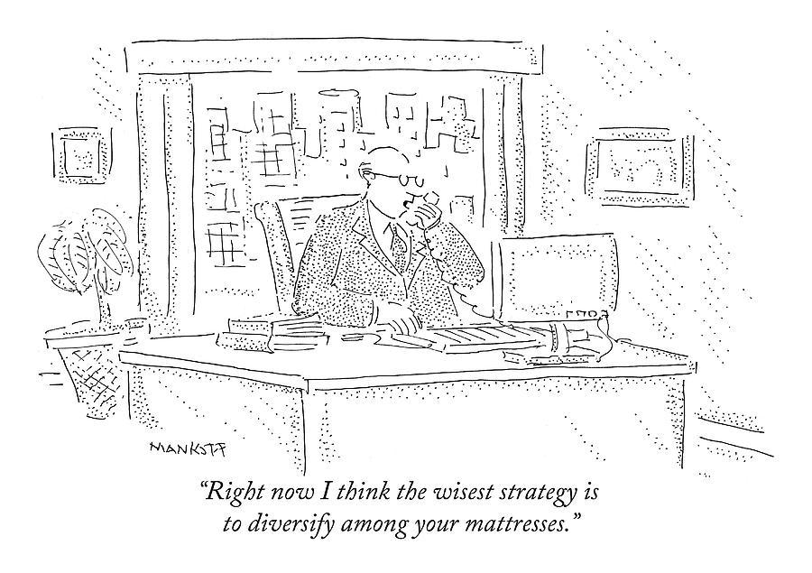 Economy Drawing - Stockbroker by Robert Mankoff