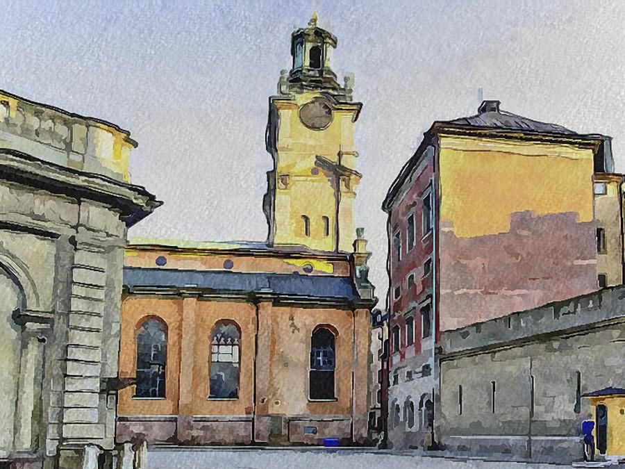 Stockholm Digital Art - Stockholm 1 by Yury Malkov