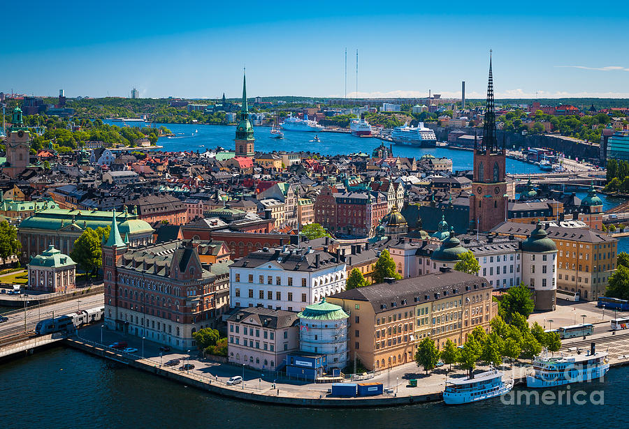 Stockholm From Above Photograph By Inge Johnsson
