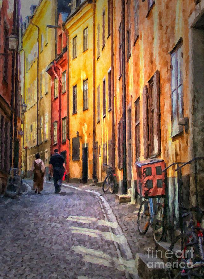 Stockholm Gamla Stan Painting Painting By Antony Mcaulay