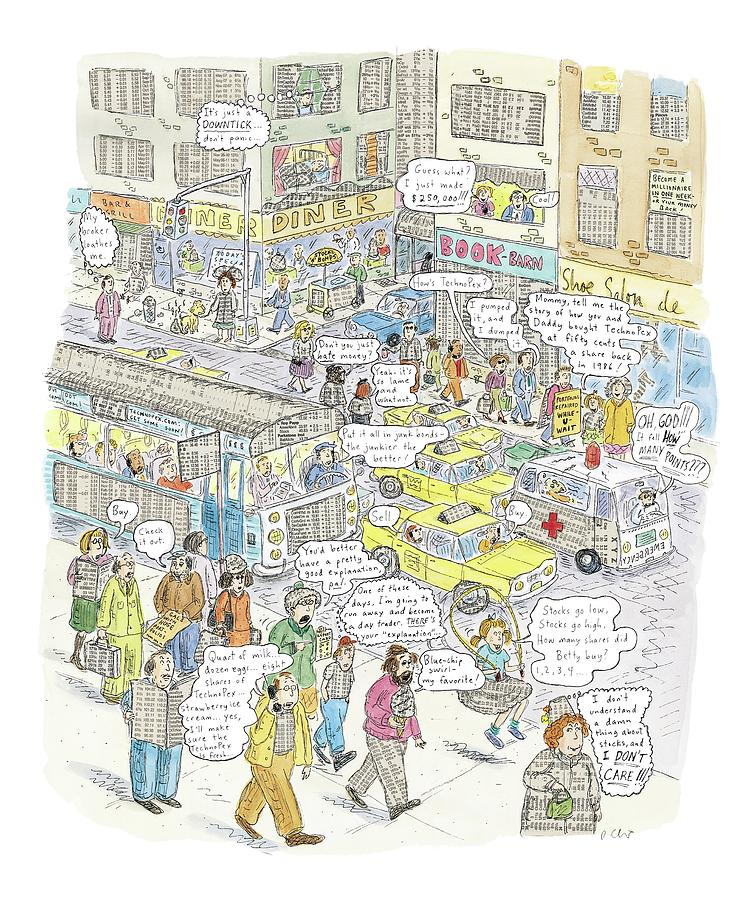 stockopolis Drawing by Roz Chast