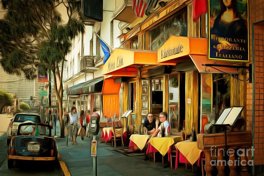 North Beach Street Scene Outdoor Dining San Francisco