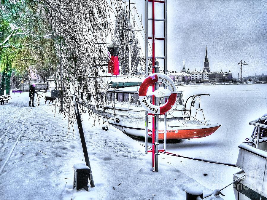 Stokholm Mixed Media - Stokholm Swiss Winter by Yury Bashkin