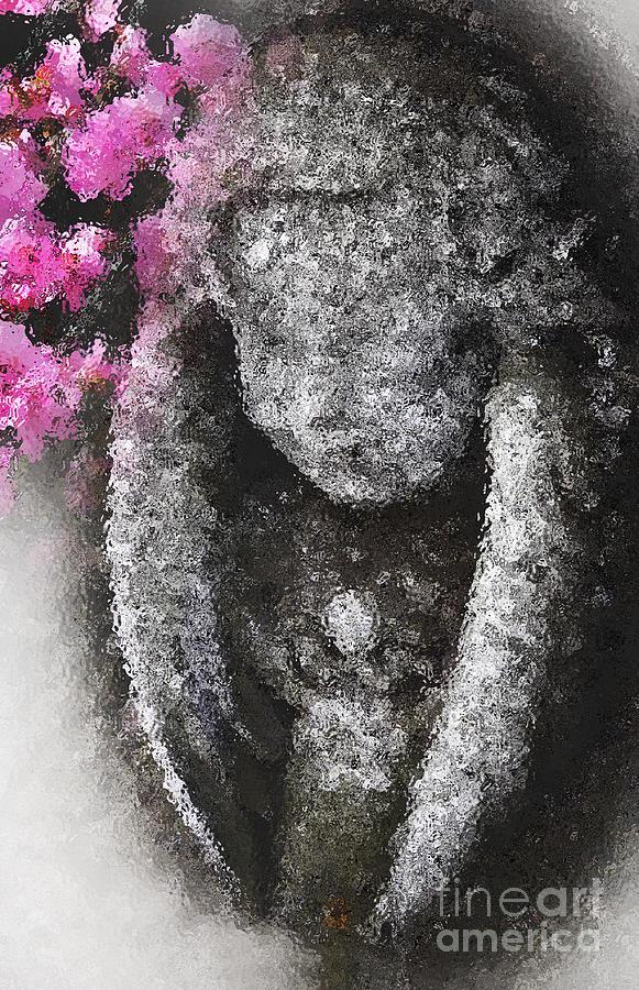 Angel Photograph - Stone Angel by Charline Xia