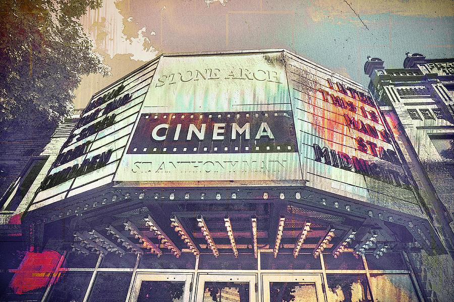 Mpls Digital Art - Stone Arch Cinema by Susan Stone