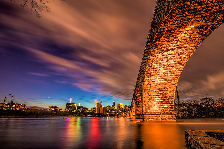 Minneapolis Photograph - Stone Arch Minneapolis by Mark Goodman