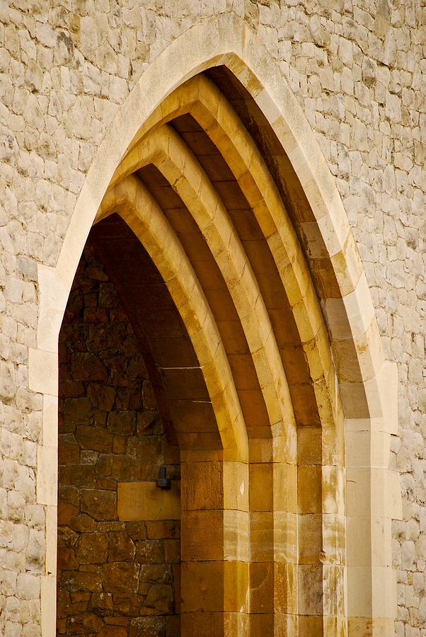 Britain Photograph - Stone Archway At Tower Hill by Christi Kraft