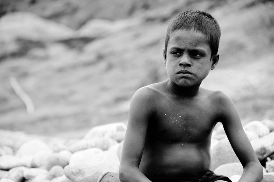 Stone Boy... Photograph by Gazi Regan