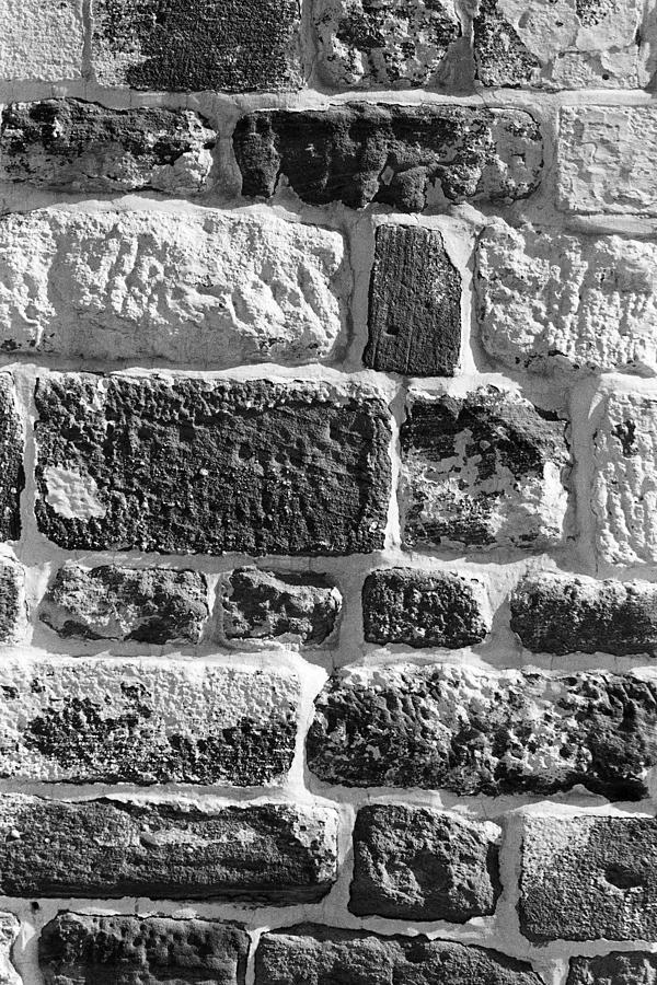 1980s Photograph - Stone Brick Wall by Jagdish Agarwal