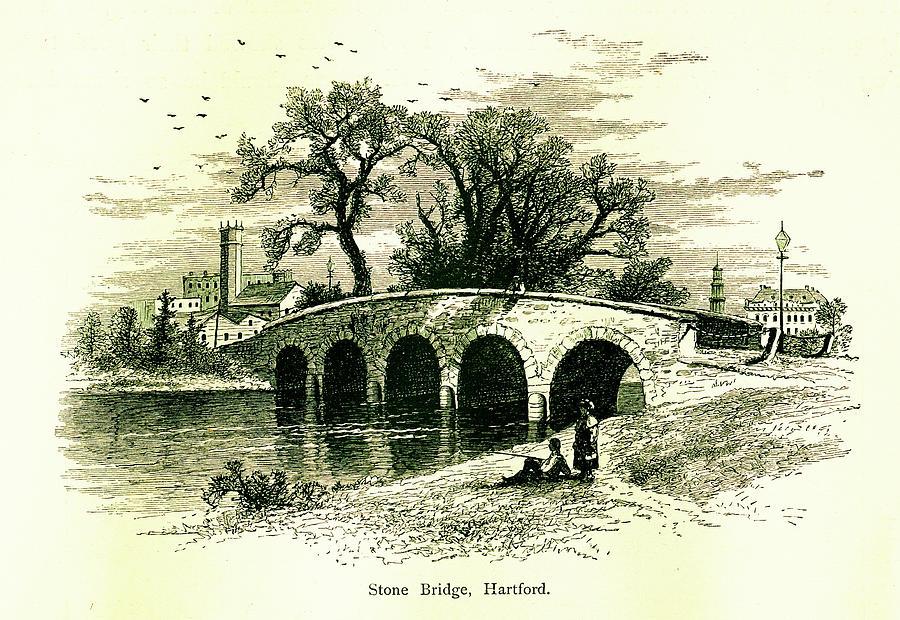 Stone Bridge In Hartford, Connecticut Digital Art by Nicoolay