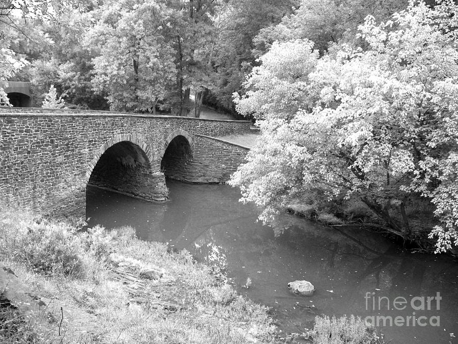 Stone Bridge Photograph - Stone Bridge - Manassas by Christiane Schulze Art And Photography