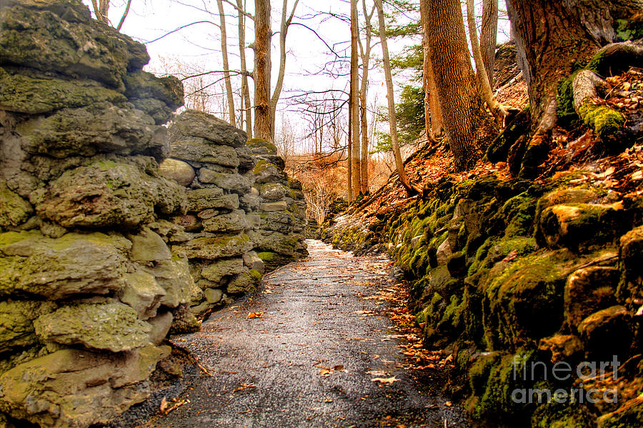 Stones Photograph - Stone Cold Walkway by Jim Lepard