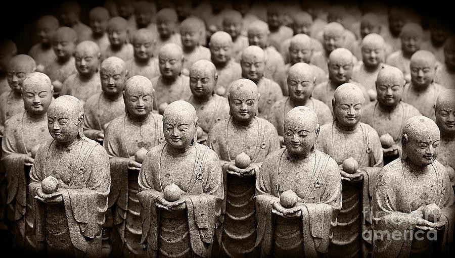 Stone Figures of Jizo by Eena Bo