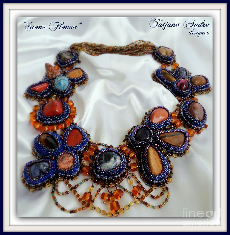 Jasper Jewelry - Stone Fower by Tatjana Andre